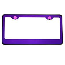 KA Depot T304 Stainless Steel Made In USA Purple License Plate Frame AluminumCap