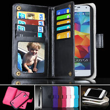 Compact Zip Wallet Case Samsung Galaxy S5 i9600 Card Slots Magnet Phone Cover