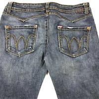 "Farmer Denim Brand Jeans Womens USA Tokyo 28x30.5 Premium Denim Actual 33"" Waist"