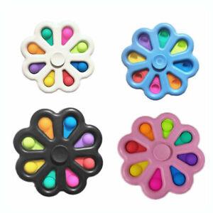 Push Pop Simple Dimple Spinner Bubble Sensory Autism Toy Fidget Stress Relief