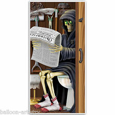 5ft Haunted Halloween GRIM Reaper Morte WC Porta Decorazione Poster Cover