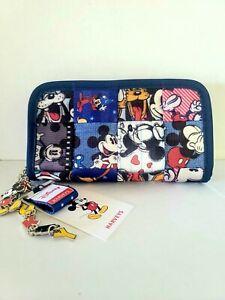 Harveys Seatbelt Bags Classic Wallet Disney Patchwork Mickey & Minnie Mouse NWT
