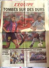 L'Equipe Journal 24/8/2001; Lazio Rome, Barcelone qualifié en ligue des champion