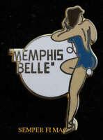 B-17 FLYING FORTRESS MEMPHIS BELL NOSE ART WW 2 PIN UP HAT PIN PILOT CREW WOW
