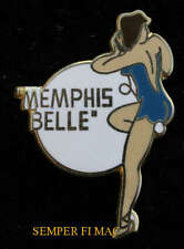 B-17 FLYING FORTRESS MEMPHIS BELL NOSE ART WW 2 PIN UP HAT PIN PILOT CREW WOW