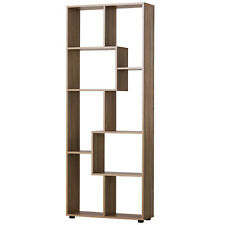Light Oak Grain  8-Shelf Bookcase With Anti Tipping Attachments For The Wall