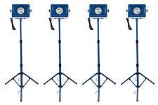 4 LOT TEMCo 70 Watt Tripod HD LED Portable Utility Work Light 110 120 v Volts w
