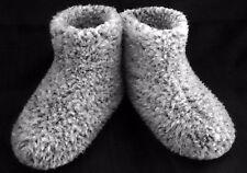 Size 14 (48) - GREY - MEN'S MERINO WOOL BOOTS WARM COZY SLIPPERS MOCCASINS CHUNI