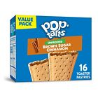 NEW Pop Tarts Toaster Pastries Unfrosted Brown Sugar Cinnamon 16 Count FREE SHIP
