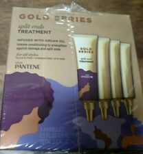 (3) GOLD SERIES SPLIT ENDS TREATMENT INFUSED W/ARGAN OIL BY PANTENE - 4 AMPOULES