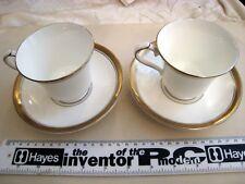 2 x tazze da tè + PIATTINI AYNSLEY Odyssey INGLESE FINE BONE CHINA made in ENG o5