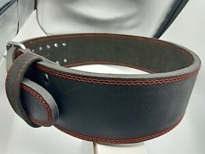 """Weight Power Lifting Leather Belt Gym Training lifting 2 Prong 4"""" Wide10mm Thick"""