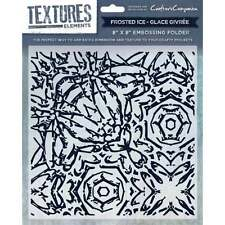 Frosted Ice - Crafters Companion Textures Elements 8 * 8 Embossing Folder