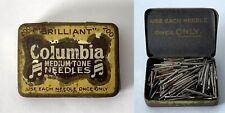 COLUMBIA Medium Tone Gramophone Phonograph Needle Tin + Contents #2