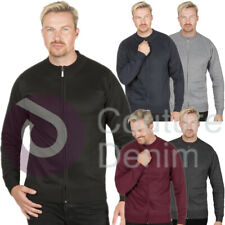 Mens Zip Cardi Cardigan Crew Neck Plain Fine Knit Full Sleeve Smart Jumper