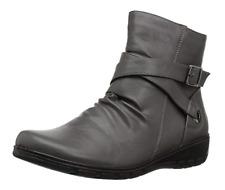 889885384432Easy Street Women's Questa Ankle Bootie, Grey, 6 M US