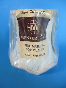 "4""Monter Lite- Handmade Pleated/ Braid Trim/ Scalloped- Mini Ivory Lampshade NIP"
