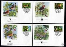 Isole Cook 1278/81 FDC WWF Rarotonga-ISOLA-fruchtaube