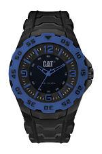 Mens Caterpillar Motion CAT LB16121136 Black Rubber Blue Accents Sport Watch