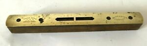 Vintage spirit level with brass top, trade mark Hockley Abbey 20.5 cm long