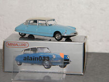 Miniabox DS 19 Bleue dinky car designed By Minialuxe France 1/66è Ref MB100_2SE