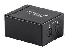 1x2 Port Toslink S/PDIF SPDIF Digital Optical Audio Switch Switcher Box Hub