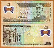 Dominican Republic, 20 Pesos Oro, 2009,  P-182 (182a) POLYMER, UNC