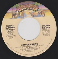 DONNA SUMMER {70s Pop Disco Soul} Heaven Knows / Only One Man ♫HEAR (nmint)