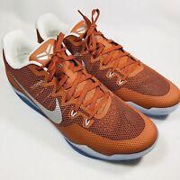 Nike Kobe XI 11 TB Promo Texas Longhorn Orange Basketball Shoes Men's Sz 16.5