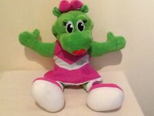 """SID AND LIZZIE GREEN PINK GIRL SOFT PUPPET TOY LIZARD 14"""" PARKDEAN  HOLIDAYS"""