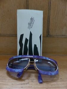 Silhouette Brille Sonnenbrille M 8020 Vintage 80er 90er Austria lila