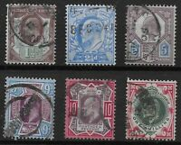 KEVII-6 Values Including 9d.,10d.&1s.  Fine Used and in Good Condition. Ref.0894