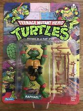 TMNT Turtles Vintage Raphael Figure 10 Back MOC Unpunched 1988 Rare Ex Cond!