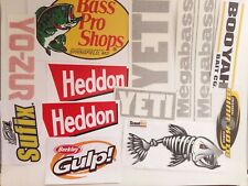NEW Fishing Stickers,13 most popular Decals  for fisherman
