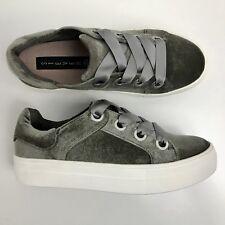 Sz 6 Steve Madden Women's GATOR Platform Sneaker Taupe Velvet NIB $89 GPM