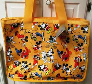 NEW, Disney Mickey Mouse Thru the Years Tote Bag, Beach bag, Carry-On Bag, Large
