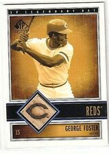 GEORGE FOSTER 2002 SP LEGENDARY CUTS LEGENDARY GAME JERSEY GAME USED BAT
