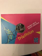 New listing LONDON 2012 OLYMPICS SPORTS COLLECTION UNC 50p IN PRESENTATION CARD - TRIATHLON