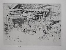 WHEELWRIGHT / BLACKSMITH SHOP : J A McNeill Whistler 1927 LITHOGRAPH of Etching