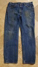 Levis 505 38x30 Dark Wash Red Label Blue Jeans