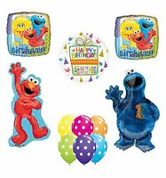 Sesame Street Waving Elmo and Cookie Monster Party Supplies