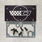 Tpi Lt1 Corvette Throttle Body Cover Plate Gasket Screws Black Kit  for sale