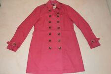 Burberry Brit Pink Double Breasted Trench Coat Mac Jacket Womens UK 12 US 10