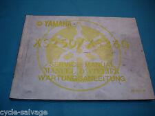 Yamaha XS 250 360 1977 Wartungsanleitung Service Manual D'Atelier Handbuch