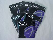GENUINE FENDER LIGHT SS STAINLESS STEEL ELECTRIC GUITAR STRINGS 350L 6-PACK SETS