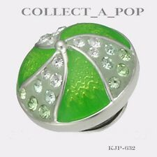 Authentic Kameleon Sterling Silver Lime Pinwheel Jewelpop Kjp632 Sale!