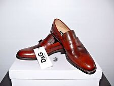 NEW $495.00 DOLCE & GABBANA BROWN LEATHER OXFORDS MADE IN ITALY SIZE US 10(43)