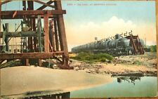 Oil Well/Drill & Railroad/Locomotive 1910 Postcard: Oil Cars at Shipping Station