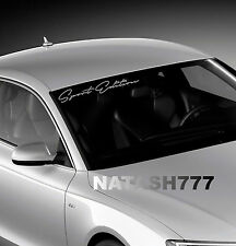 Sport edition Windshield Racing car Vinyl Decal sticker emblem Logo SILVER