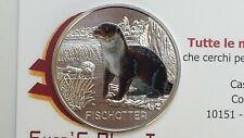 3 euro 2019 Austria Autriche Österreich Lontra loutre otter Fischotter de nutria